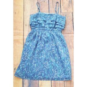 3/$25 LC Lauren Conrad Blue Floral Dress 2